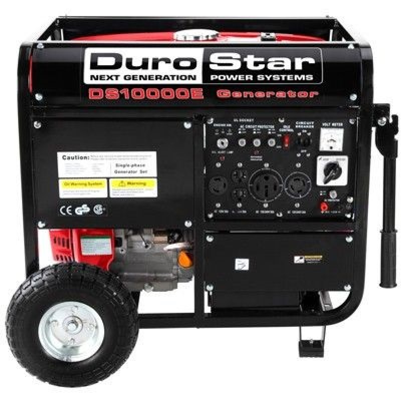 DuroStar DS10000E 10000-Watt 18-Hp Gas Generator w/ Electric Start and Wheel Kit