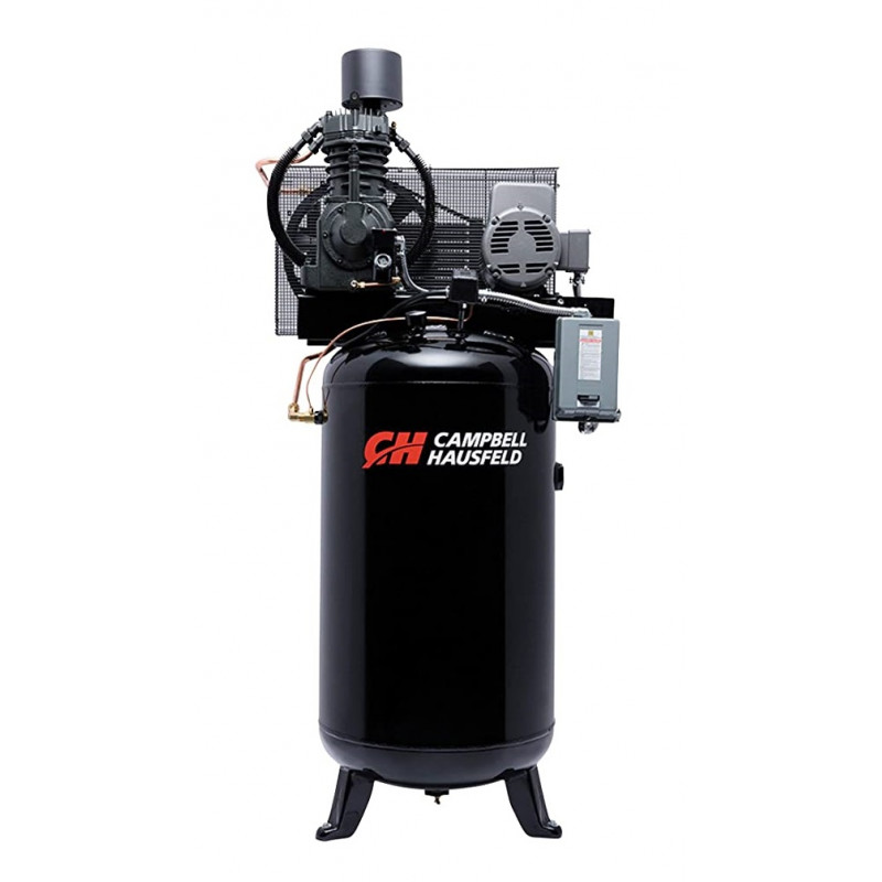 Campbell Hausfeld Electric Stationary Air Compressor 7.5 HP-23.7 CFM-175 PSI, 230 V-Single Phase