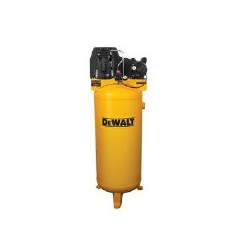 DeWALT, Vertical Air Compressor 60 Gallon-Cast Iron/Oil Lubricated/Belt Drive-3.7 HP