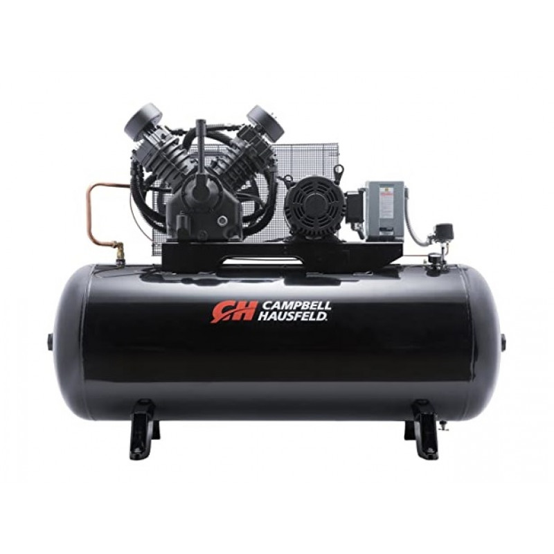 Campbell Hausfeld Two-Stage Air Compressor 10 HP 34.1 CFM 175 PSI-208-230/460 Volt 3Phase