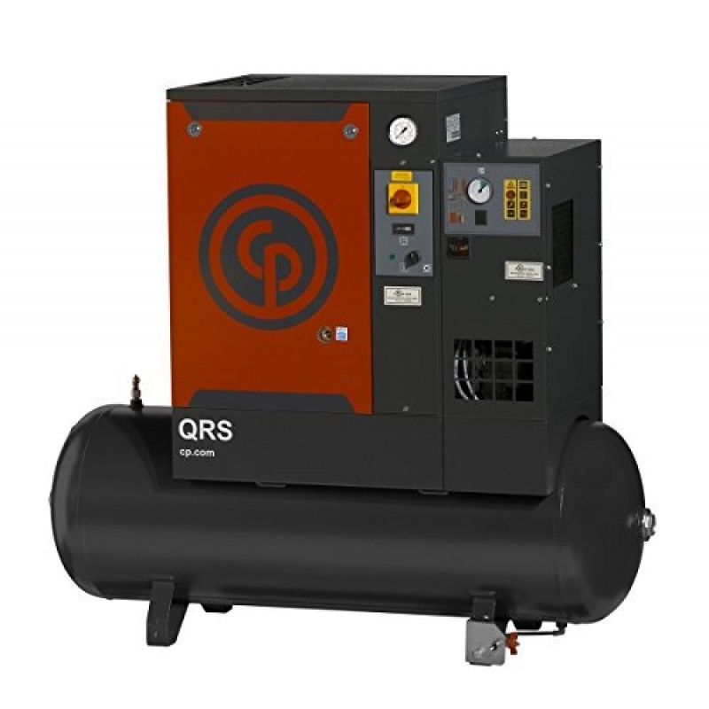 Chicago Pneumatic Quiet Rotary Screw Air Compressor w/ Dryer 5 HP 230 Volts, 1 Phase