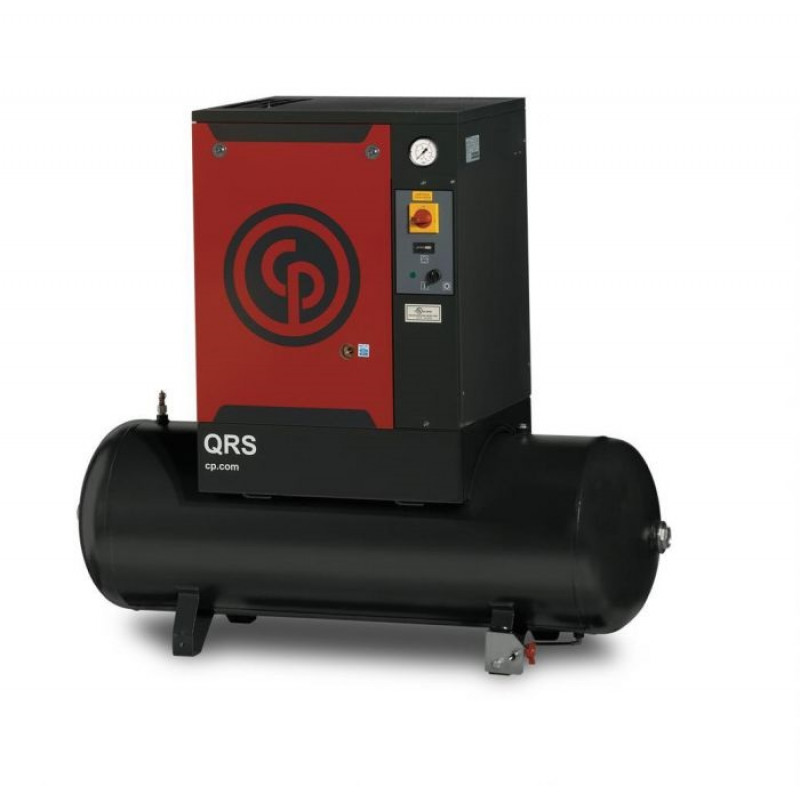 Chicago Pneumatic Quiet Rotary Screw Air Compressor with Dryer 7.5 HP 230 Volts, 1 Phase