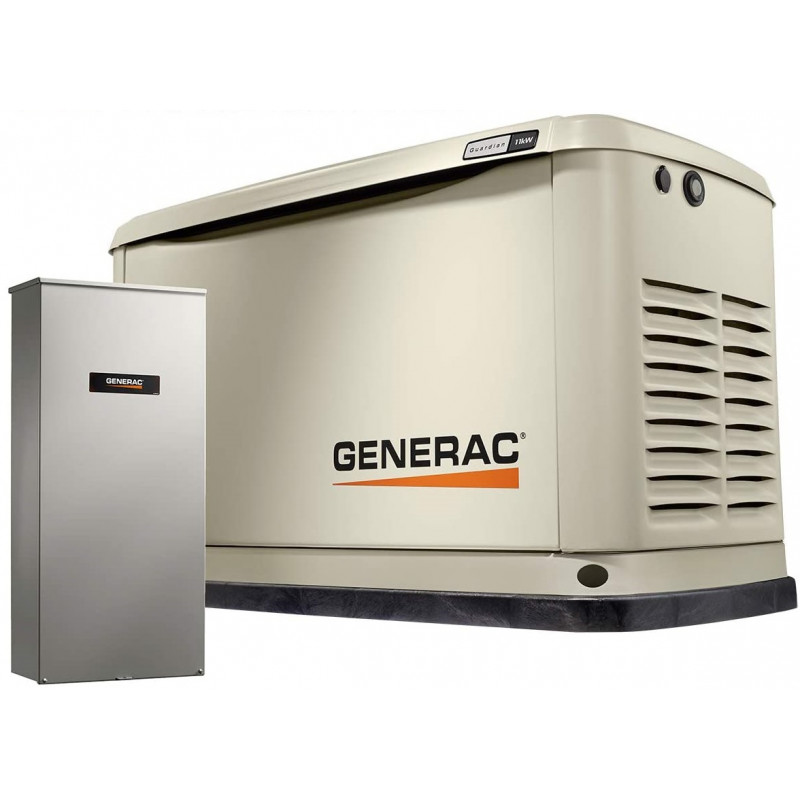 Generac Guardian 11kW Aluminum Standby Generator System (200A Service Disconnect + AC Shedding) w/ Wi-Fi
