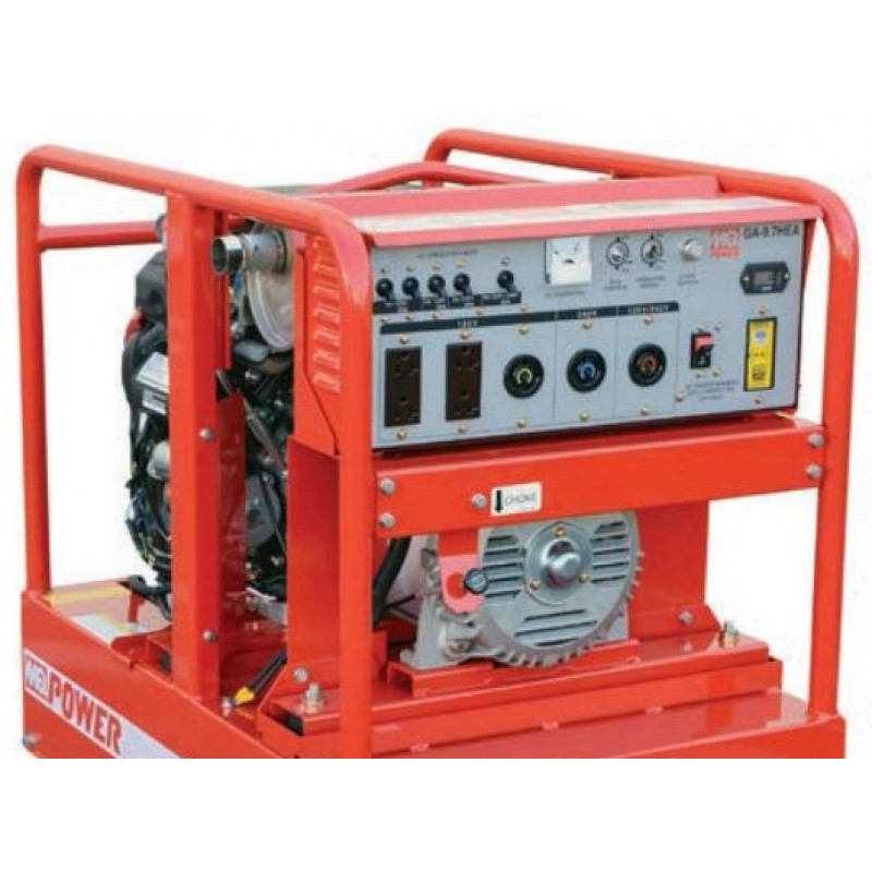 Multiquip GA97HEA - 8400 Watt Electric Start Portable Generator w/ Honda GX Engine