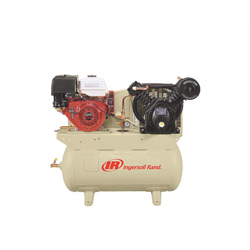 Ingersoll Rand, 24 CFM 175 PSi-13 HP Horizontal Air Compressor w/ Alternator
