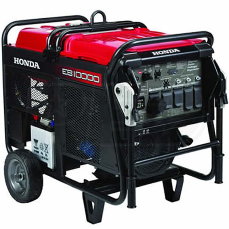 Honda EB10000-9000 Watt Electric Start Portable Industrial Generator w/ GFCI Protection (CARB)