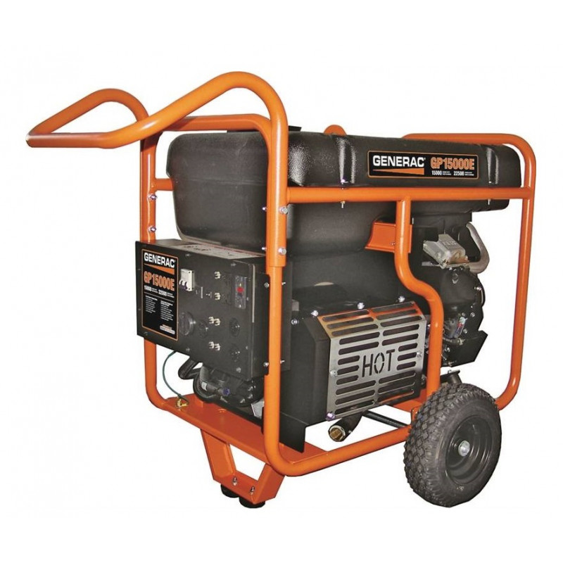 Generac GP15000E-15,000 Watt Electric Start Portable Generator