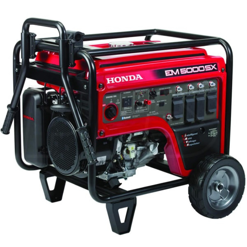 Honda EM5000-4500 Watt Electric Start Portable Generator (CARB)