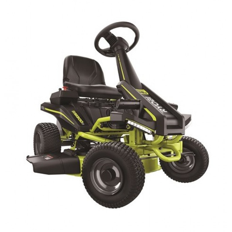 RYOBI, 38inch-100 Ah Battery Electric Rear Engine Riding Lawn Mower
