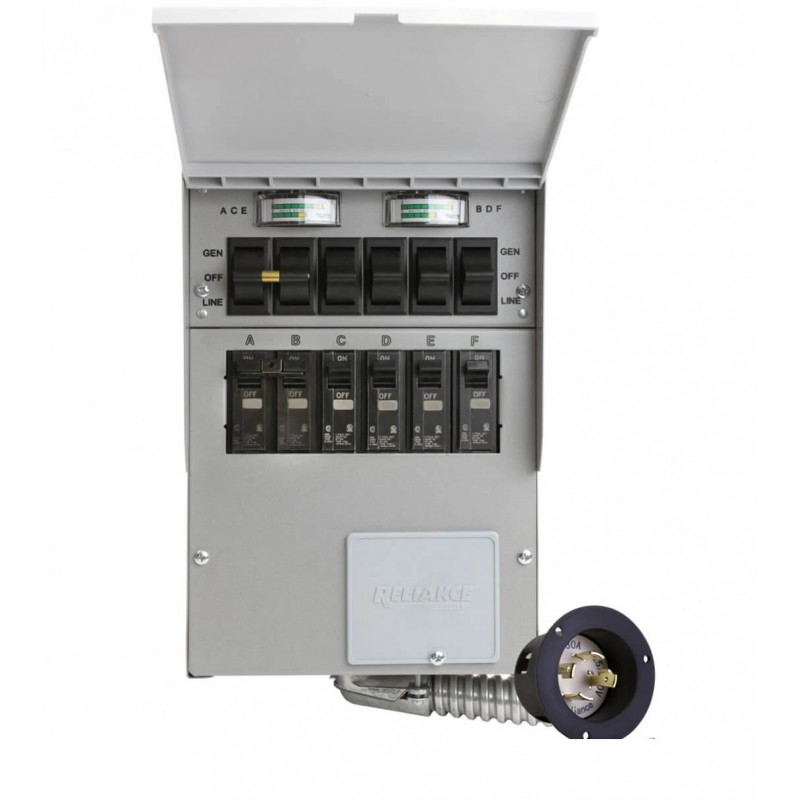 Reliance Controls Pro/Tran 2 - 30-Amp (120/240V 6-Circuit) Indoor Transfer Switch