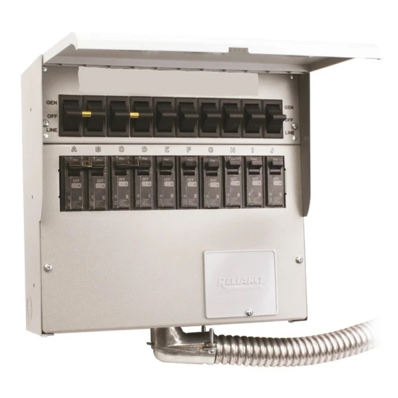 Reliance 510D 120/240-Volt 50-Amp 10-Circuit Pro/Tran Indoor Transfer Switch
